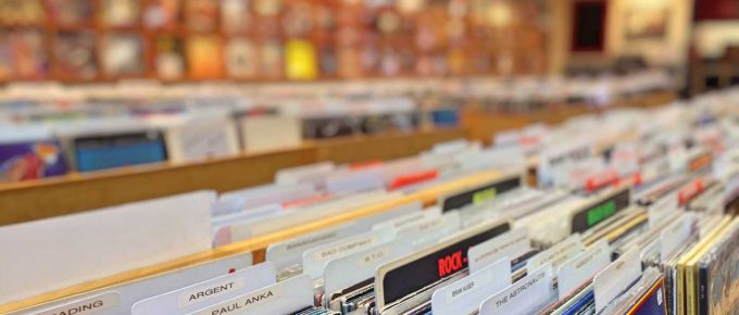 Albums in record store